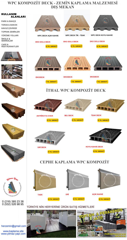 İZMİR | Ahşap Plastik Kompozit Deck | Zemin
