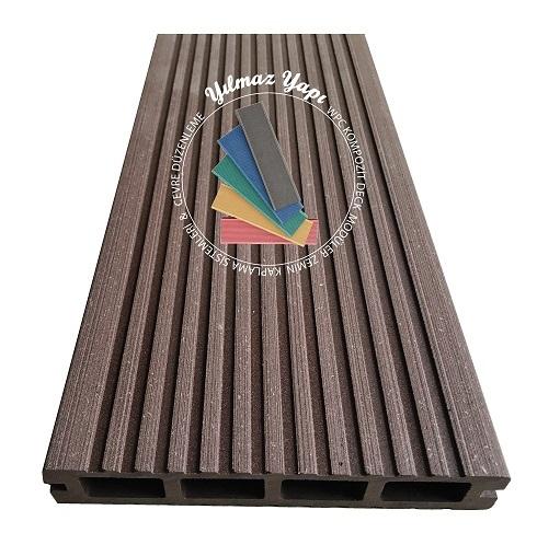 Wood Deck Wpc Kompozit Ahşap Deck Fiyatları Koyu Kahve Rengi