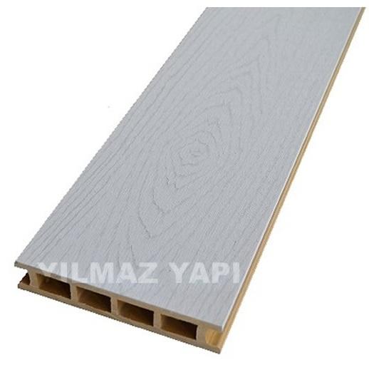 Beyaz Gri Emboslu Ahşap Kompozit Deck