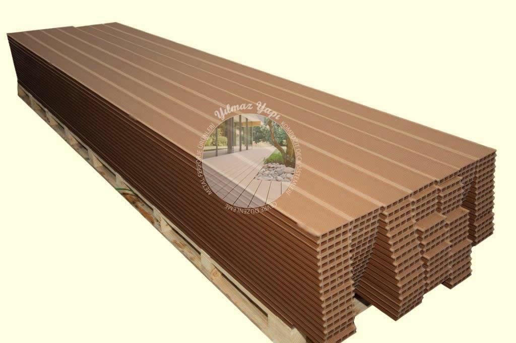 Açık Kahverengi Plastik Ahşap Kompozit Deck