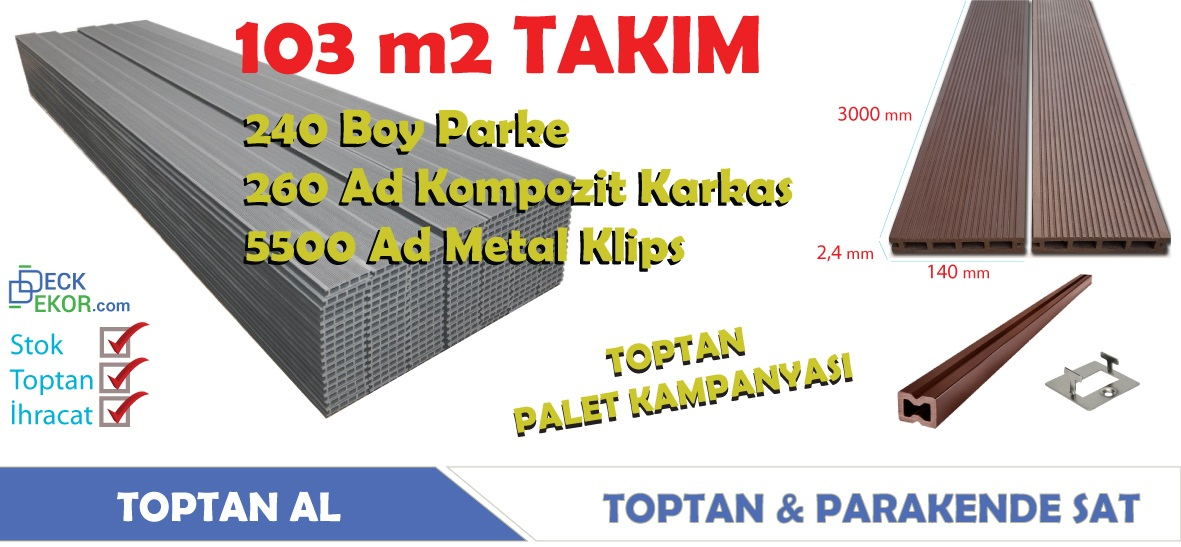 Kayseri Kompozit Ahşap Plastik Kompozit Deck