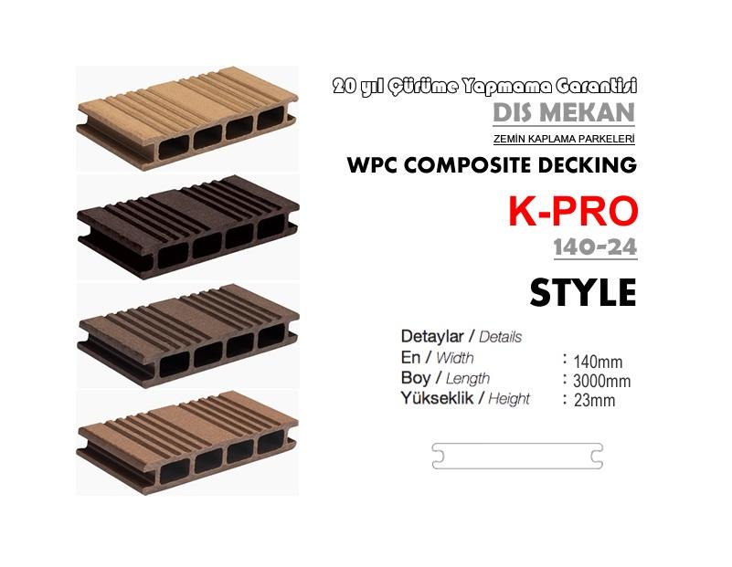 K-PRO Wpc Kompozit Ahşap Deck Fiyatları Beyaz Gri