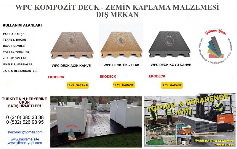 OSMANİYE | Ahşap Plastik Kompozit Deck | Zemin