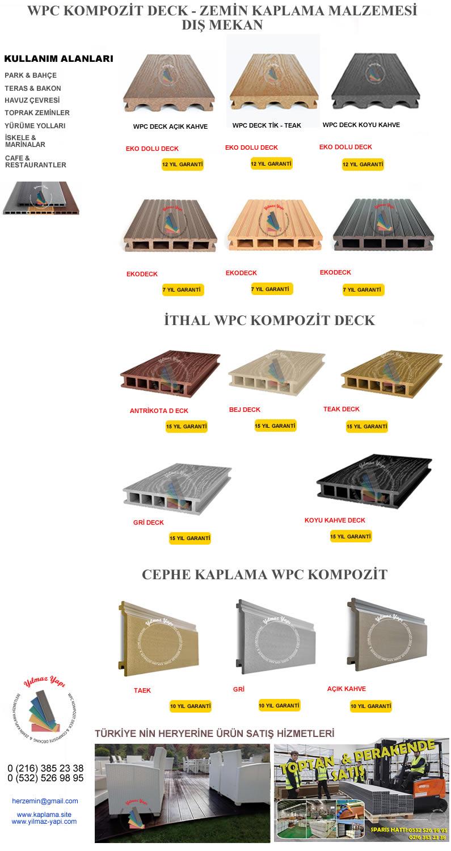 KİLİS | Ahşap Plastik Kompozit Deck | Zemin